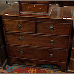 A George III mahogany chest of drawers,