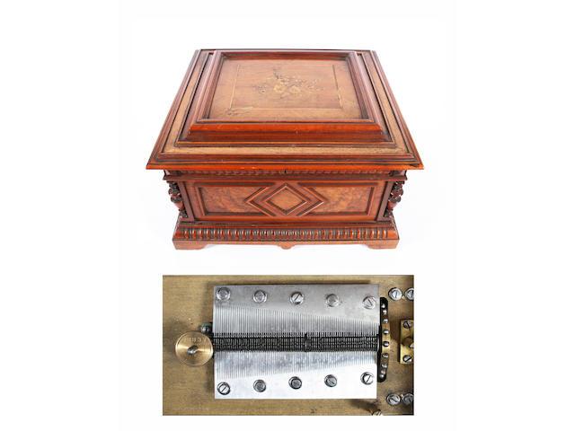 A fine Polyphon 15.1/2-inch disc musical box, Style 45, circa 1895,