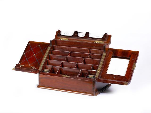 A Victorian mahogany stationary cabinet