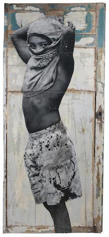JR (French, born 1984) 'Street Kid, Favela Morro da Providencia, Rio de Janeiro, Brasil', 2008