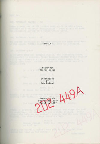 A script for 'Willow', 1987,