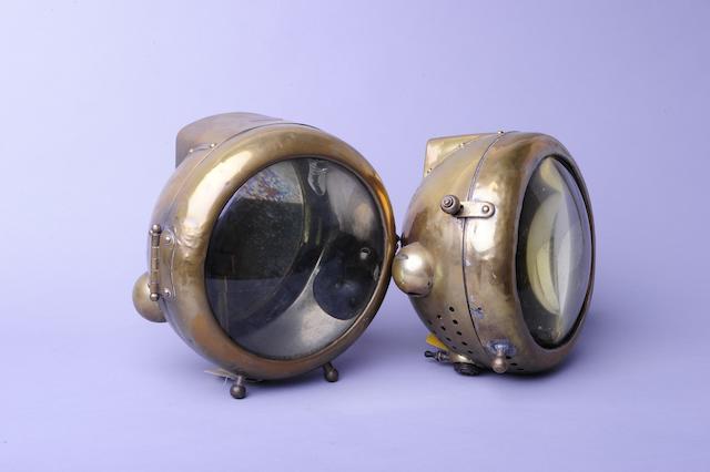 A pair of Phares Besnard headlamps,
