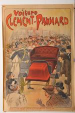 A Clement Panhard Triptych of advertsing posters after Misti,