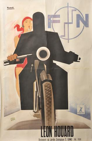 An FN motorcycles poster after Mizzoli,