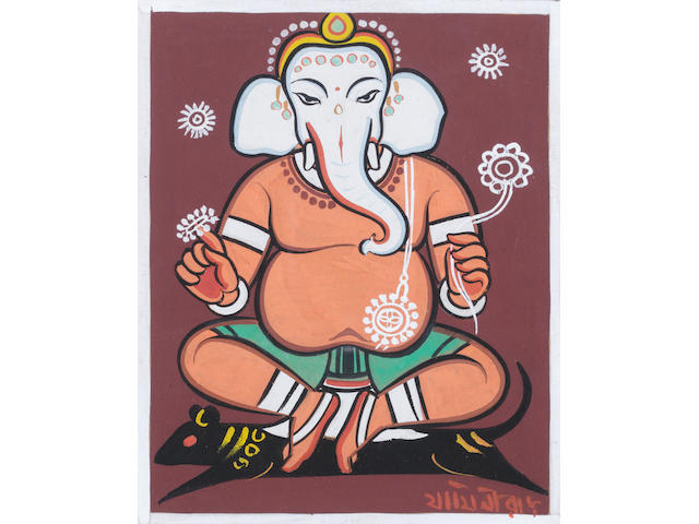 Jamini Roy (India, 1887-1972) Ganesh,