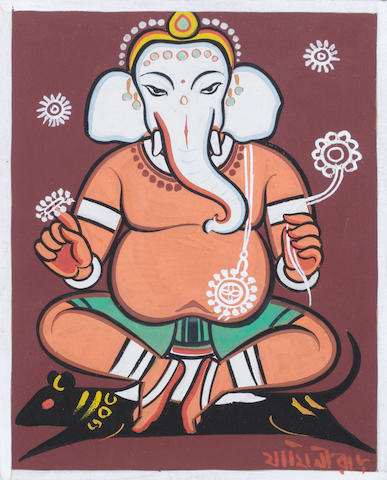 Jamini Roy (India, 1887-1972) Ganesh,