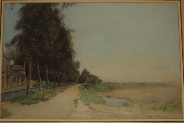 Frank Lewis Emanuel (British, 1866-1948) A waterside track
