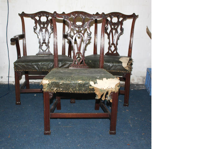 A George III mahogany elbow chair