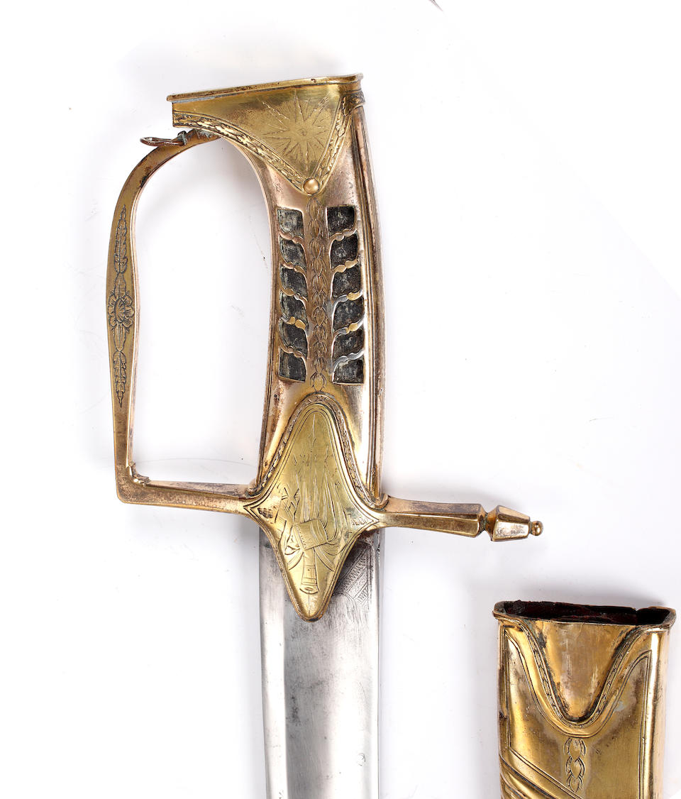A Rare 1788 Pattern Light Cavalry Officer's Sabre Of The 7th Light Dragoons