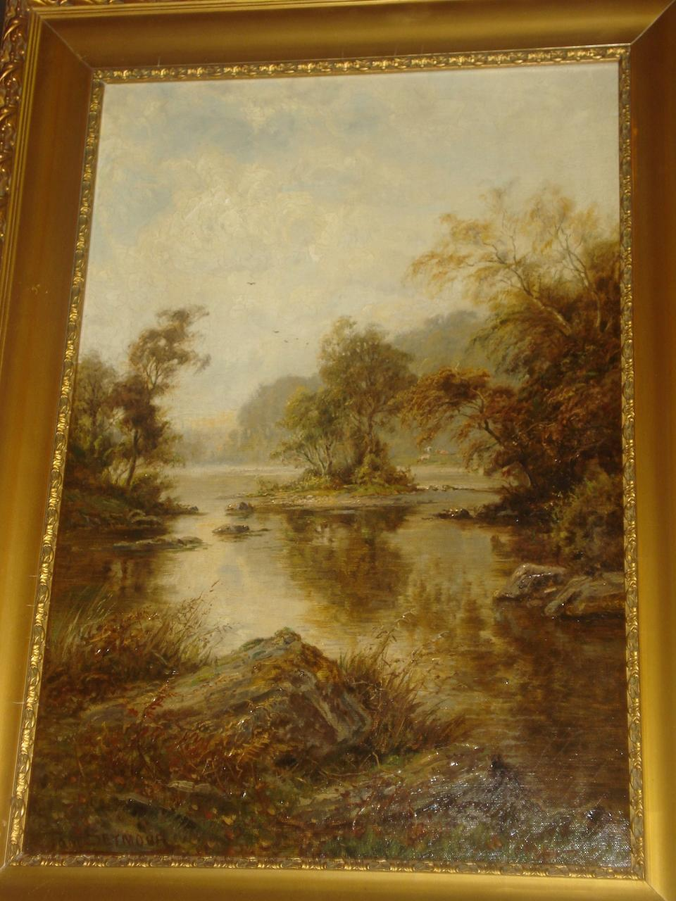 Tom Seymour (British) 'On the Wharfe', a pair