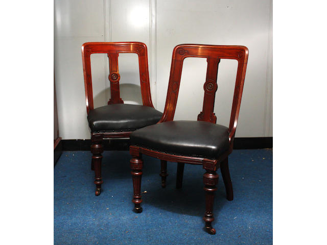 A set of 10 Victorian dining chairs