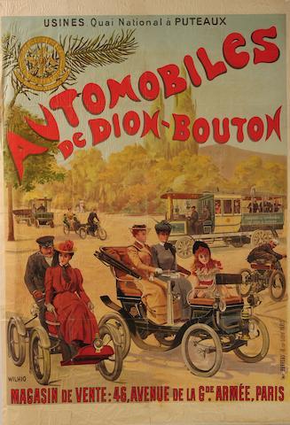 Affiche De Dion-Bouton d'après Wilhio,