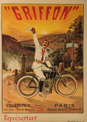 A Griffon motorcycles poster,
