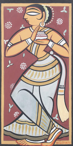 Jamini Roy (India, 1887-1972) Standing Female,