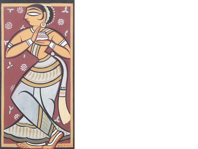 Jamini Roy (India, 1887-1972) Standing Female,