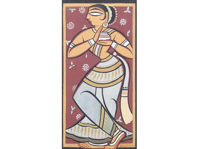 (n/a) Jamini Roy (India, 1887-1972) Standing Female,