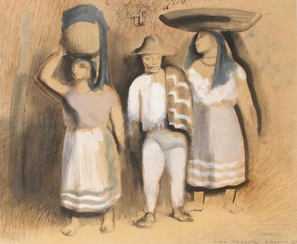 John Rattenbury Skeaping, RA (British, 1901-1980) Mexican Figures, Oaxata