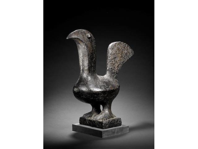 Breon O'Casey (British, born 1928) Cockerel 62 cm. (24 1/4 in.) high (including base)