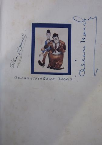 Laurel and Hardy autographs,