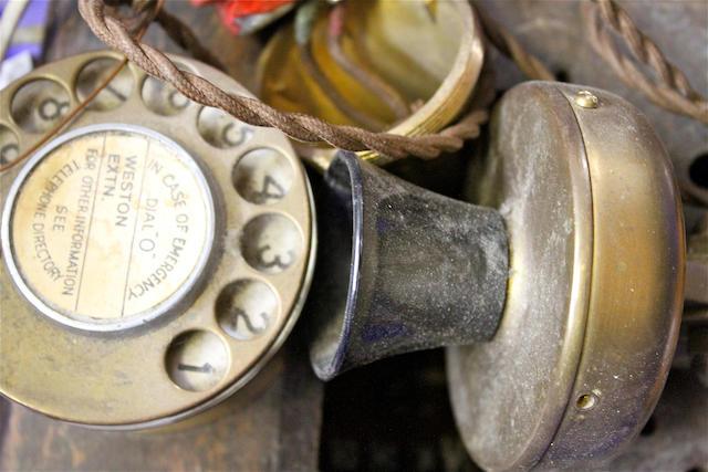 Various wood-cased telephones, circa 1920 onwards,