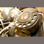 Decorative French 'Chateau' telephones, 1940s onwards,