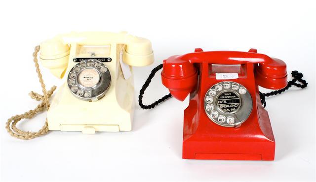 A type 312 ivory bakelite telephone, 1957,