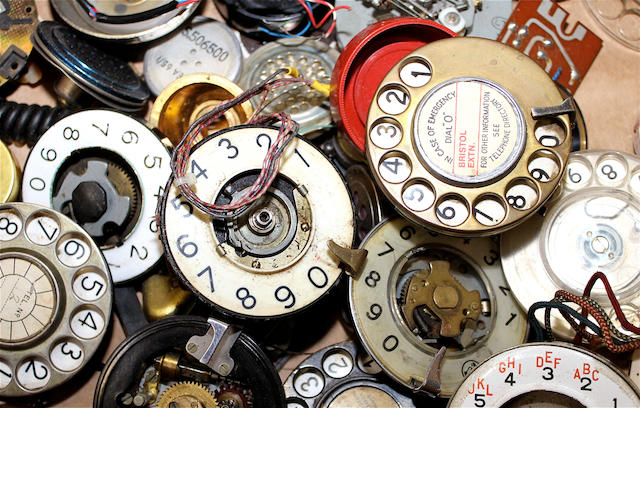 A quantity of telephone parts and accessories,