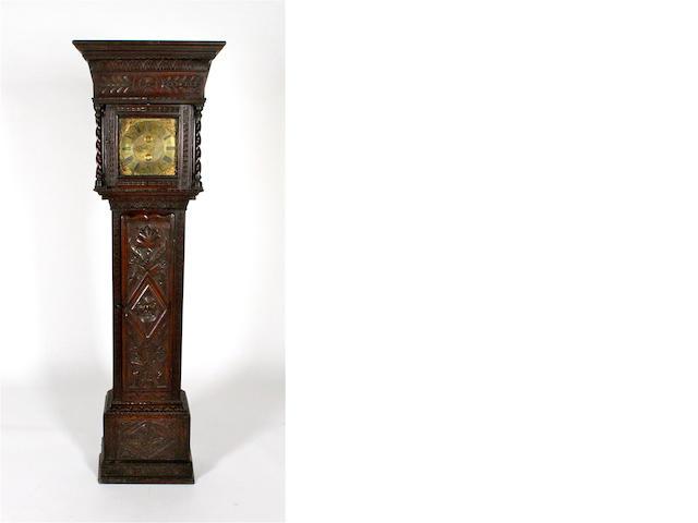 Early 18th c & later oak 30 hour longcase clock