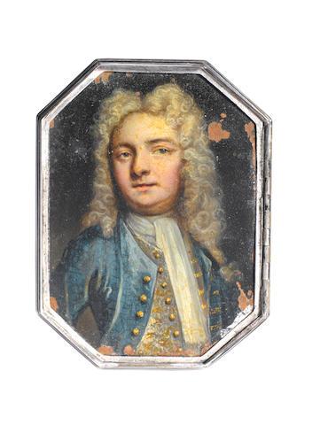 An 18th century silver box, unmarked, circa 1730,