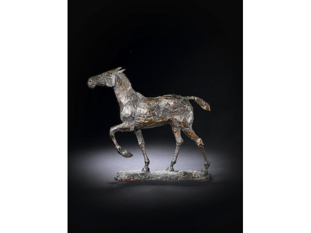 Dame Elisabeth Frink R.A. (British, 1930-1993) Horse 33 cm. (13 in.) long