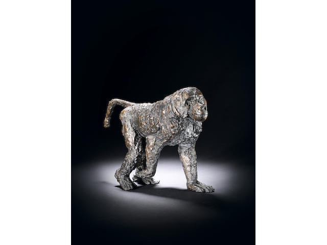 Dame Elisabeth Frink R.A. (British, 1930-1993) Walking Baboon 43 cm. (17 in.) long