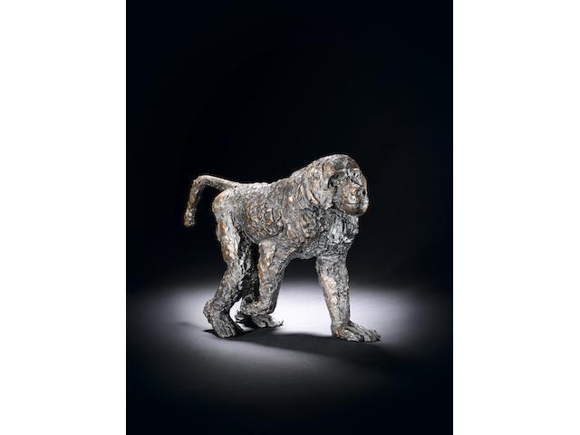 Dame Elisabeth Frink R.A. (British, 1930-1993) Walking Baboon 43 cm. (17 in.) long