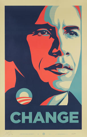 Shepard Fairey (American, born 1970) 'Change', 2008