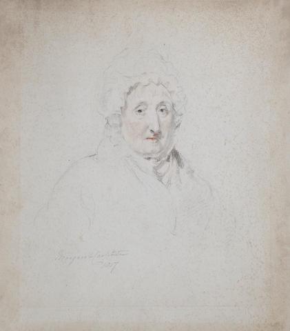 Sir Thomas Lawrence, PRA (British, 1769-1830) Portrait of Margaret Carpenter unframed