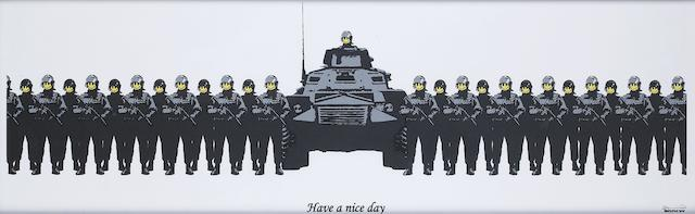 Banksy (British, born 1975) 'Have a Nice Day'