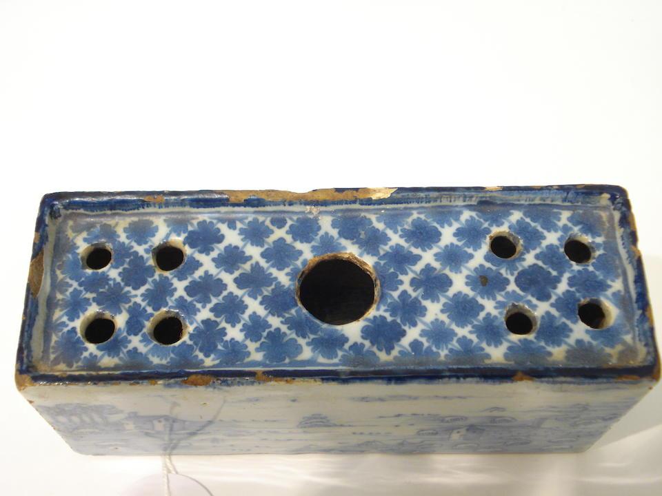 A rare delft flower brick 18th century