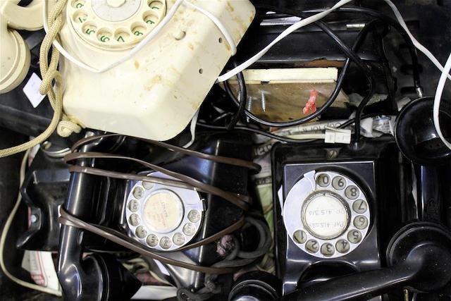 Continental bakelite telephones, mostly circa 1950,