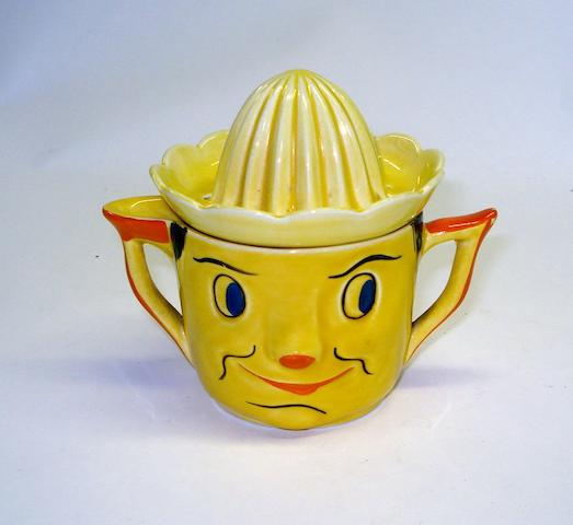 An unusual Carlton ware lemon squeezer