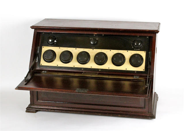 A Marconiphone 'Straight 8' type 81 wireless receiver, circa 1925,