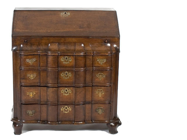 An 18th Century Dutch oak bureau, Dutch
