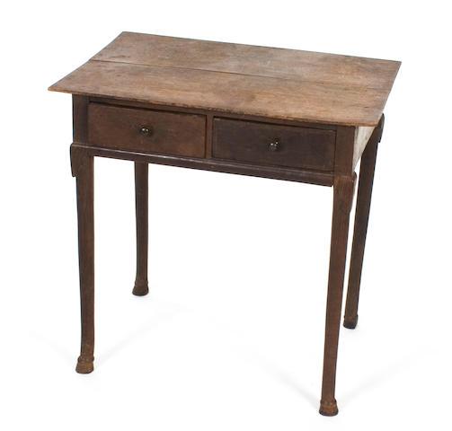 A small George I oak side table