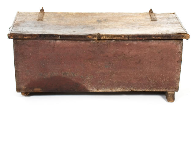 An 18th Century elm and painted chest, European