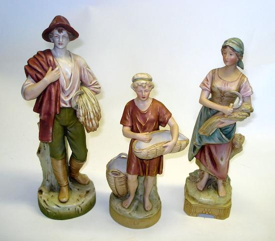A collection of three Royal Dux figures Circa 1910-20