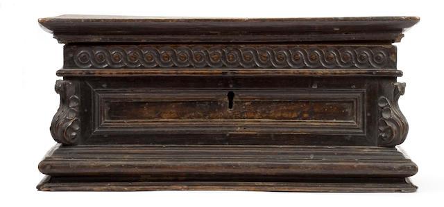 A late 17th Century Italian walnut table-casket