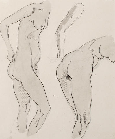 Henri Gaudier-Brzeska (French 1891-1915) Study of female nude unframed
