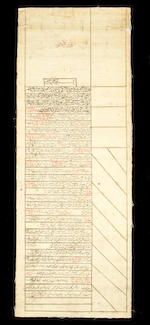 Five Qajar official documents, including two marriage certificates Persia, 19th Century(5)