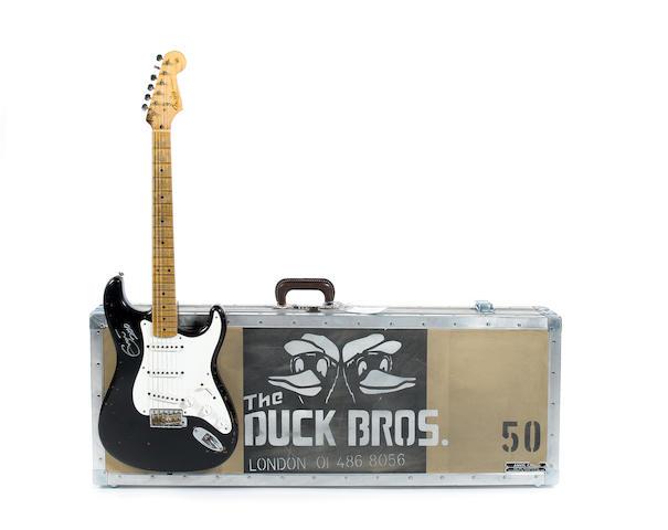 A Fender Custom Shop Tribute Series Eric Clapton 'Blackie' Stratocaster Replica, 2006, Serial No. YS434,