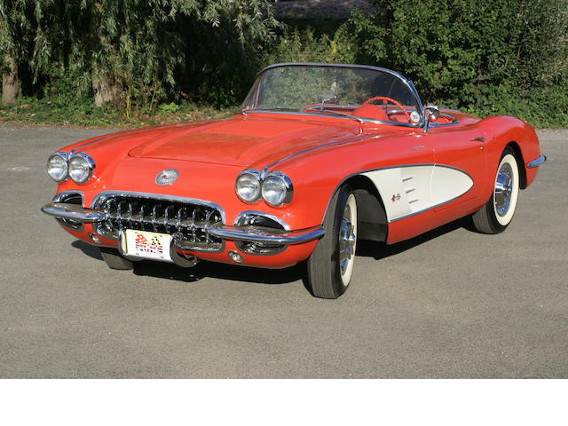 Chevrolet Corvette FI Convertible LHD 1958, Chassis no. J585102566 Engine no. 3737739, Chassis no. J585102566 Engine no. 3737739
