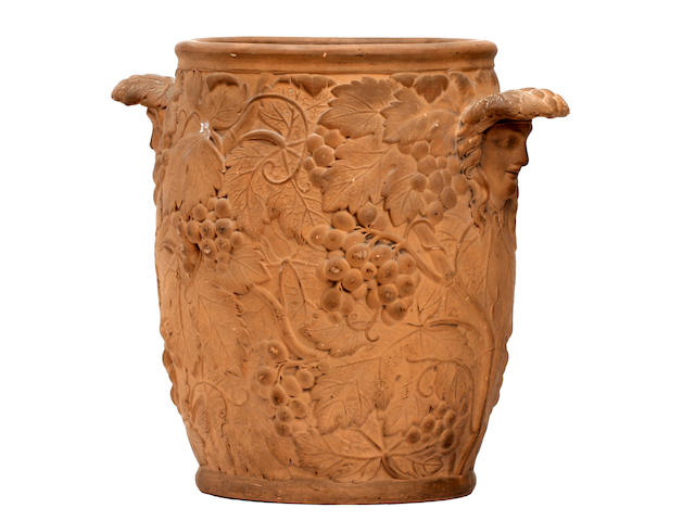 A rare Wedgwood terracotta wine cooler Early 19th century,