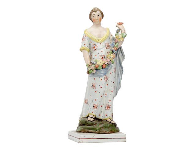 A Staffordshire pearlware figure of 'Pomona', circa 1820